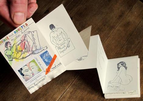 Une série limitée de 11 tampons-pin up autour du Mail Art