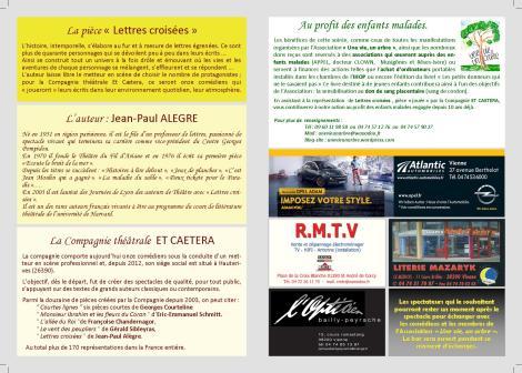 Affiche lettres croisées - verso