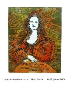 Gravure : Mona Ecriva - eau forte