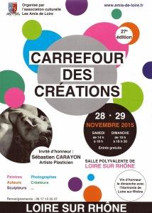 Affiche Carrefour des créations 2015