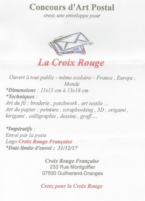 Concours Art Postal Croix Rouge